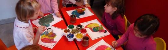 Les enfants préparent Thanksgiving